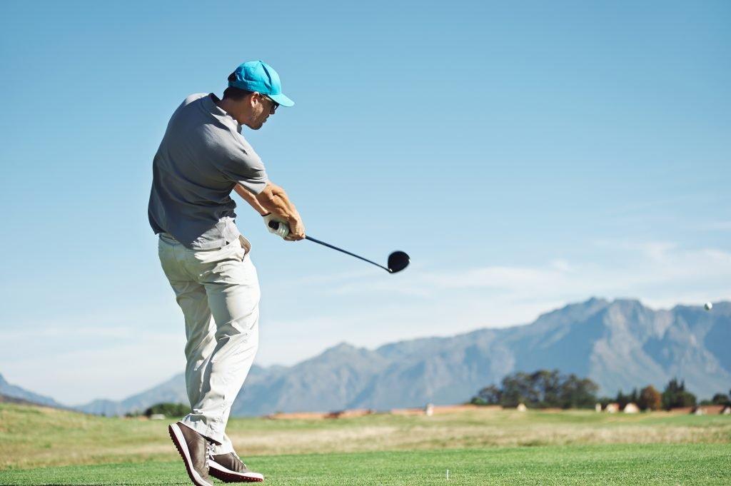 golf tee shot