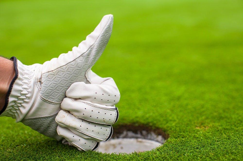 Men's hand in a glove