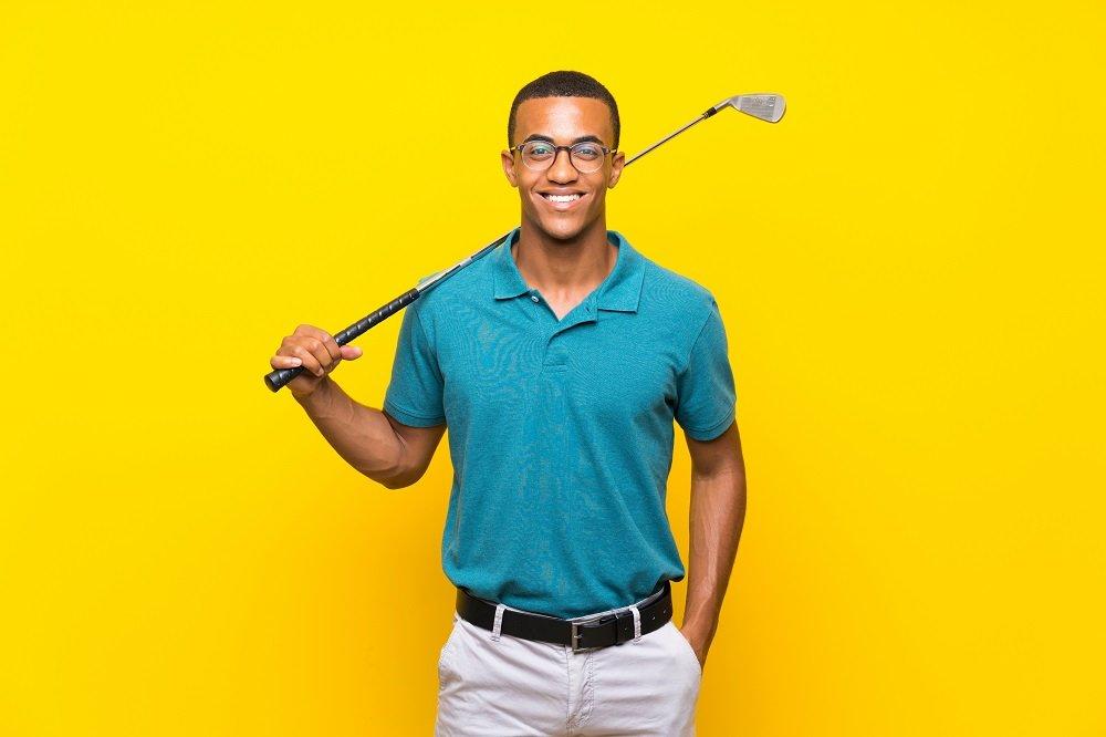 Afro American golfer